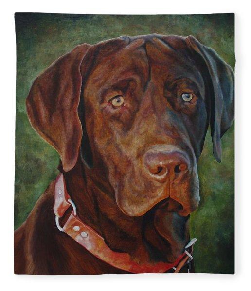 Portrait Of Remington 0094_2 Fleece Blanket