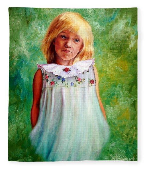 Portrait Of Sara Fleece Blanket
