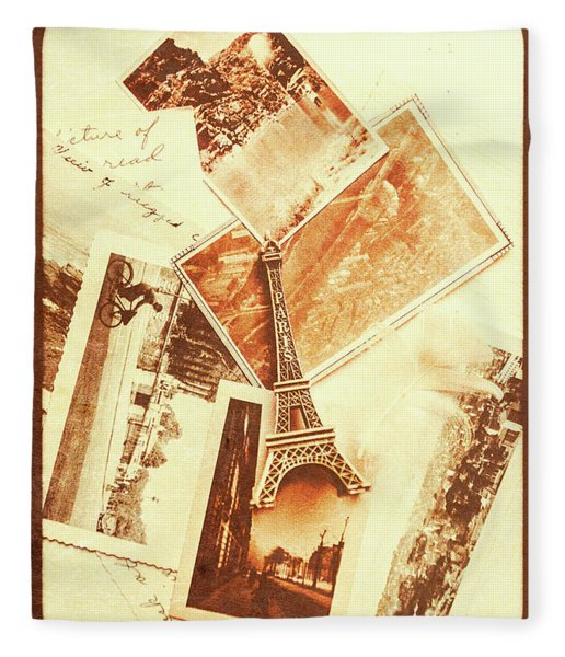 Postcards And Letters From The City Of Love Fleece Blanket