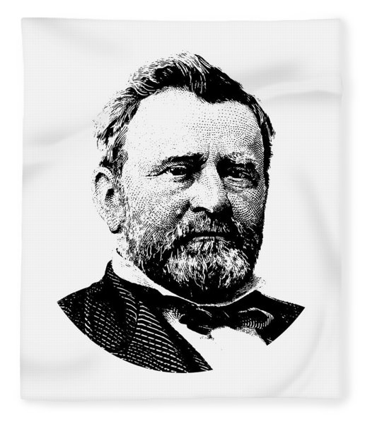 President Ulysses Grant Graphic Fleece Blanket