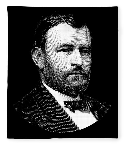 President Ulysses S. Grant Graphic Three Fleece Blanket