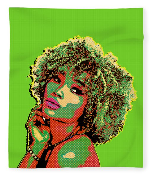 Pretty Woman II Pop Art Fleece Blanket