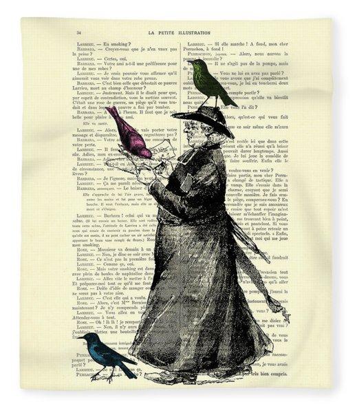 Priest And Birds Fleece Blanket