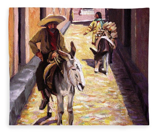 Pulling Up The Rear In Mexico Fleece Blanket