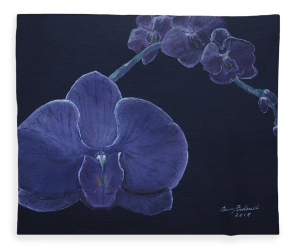 Purple Orchid Fleece Blanket