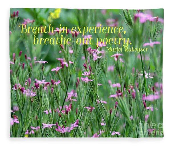 Purple Wildflower Of Poets Fleece Blanket