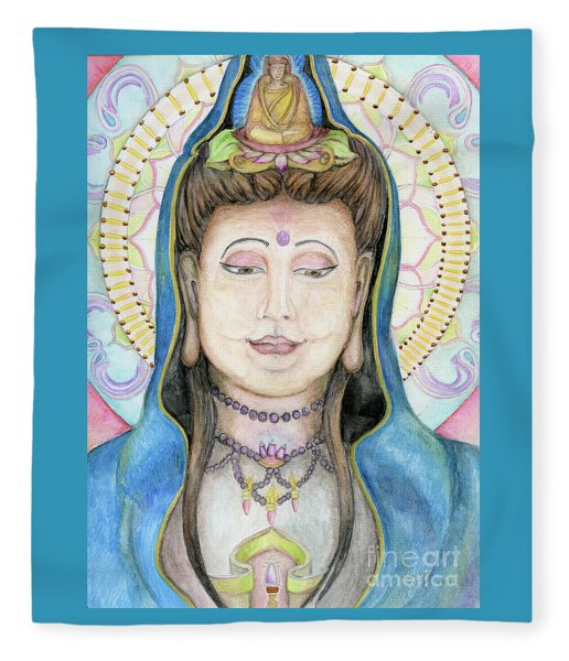 Quan Yin Fleece Blanket