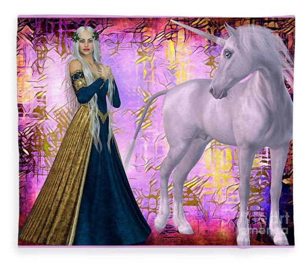 Quod Magicae Spectro Fleece Blanket
