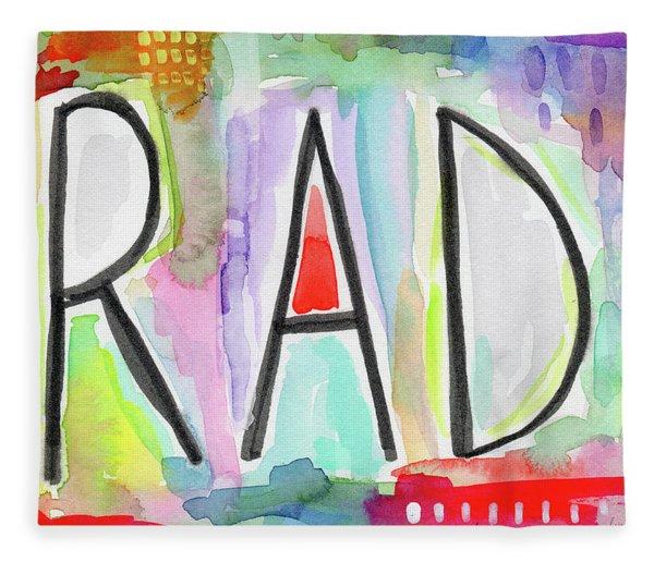 Rad- Art By Linda Woods Fleece Blanket