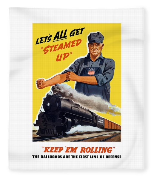 Railroads Are The First Line Of Defense Fleece Blanket