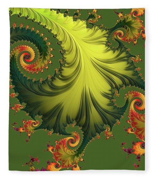 Fleece Blanket featuring the digital art Rain Forest by Susan Maxwell Schmidt