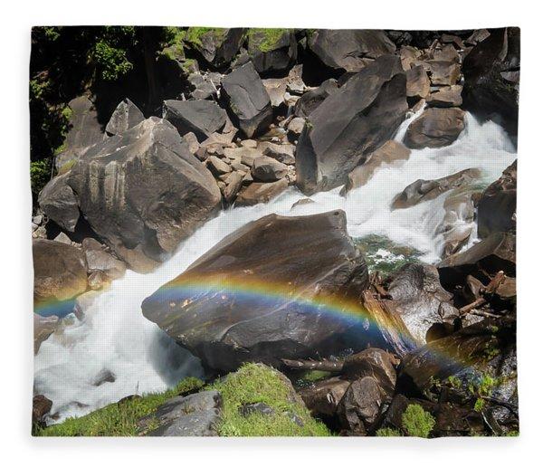 Rainbow At Vernal Falls- Fleece Blanket