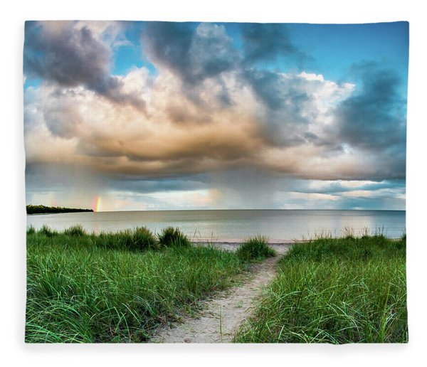 Rainbow Sunset Fleece Blanket