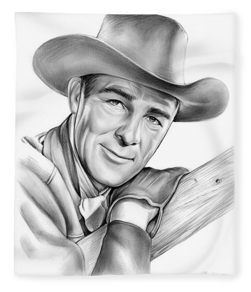 Randolph Scott Fleece Blanket