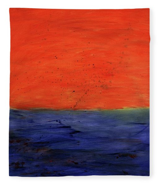 Red, Blue And You Fleece Blanket
