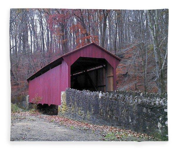 Red Bridge Fleece Blanket