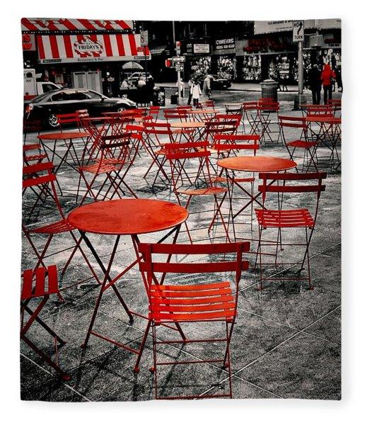 Red In My World - New York City Fleece Blanket