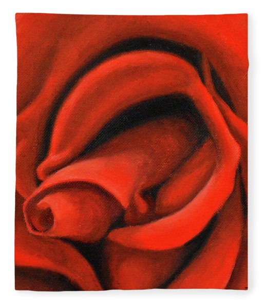 Red Lips Fleece Blanket