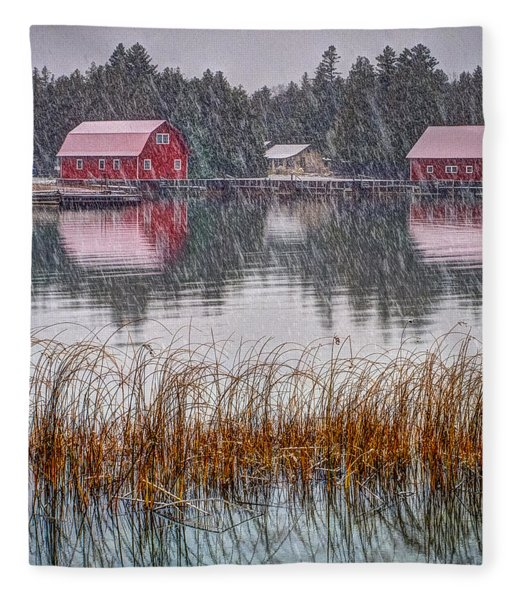 Red Reflection Fleece Blanket