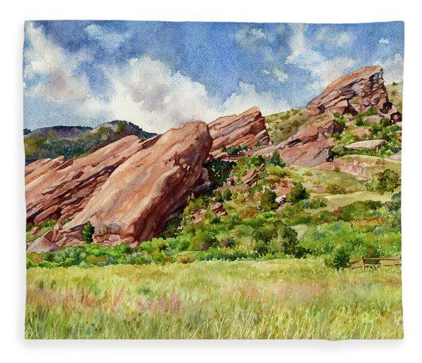 Red Rocks Amphitheatre Fleece Blanket
