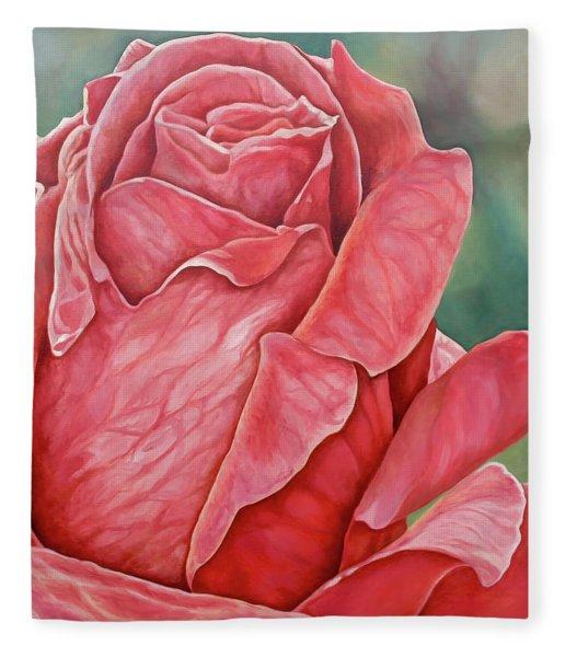 Red Rose 93 Fleece Blanket