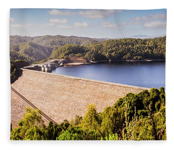 Reece Dam, Western Tasmania Fleece Blanket