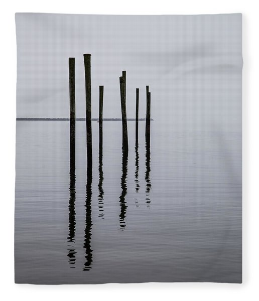 Reflecting Poles Fleece Blanket