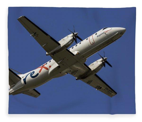 Regional Express Saab 340 Fleece Blanket