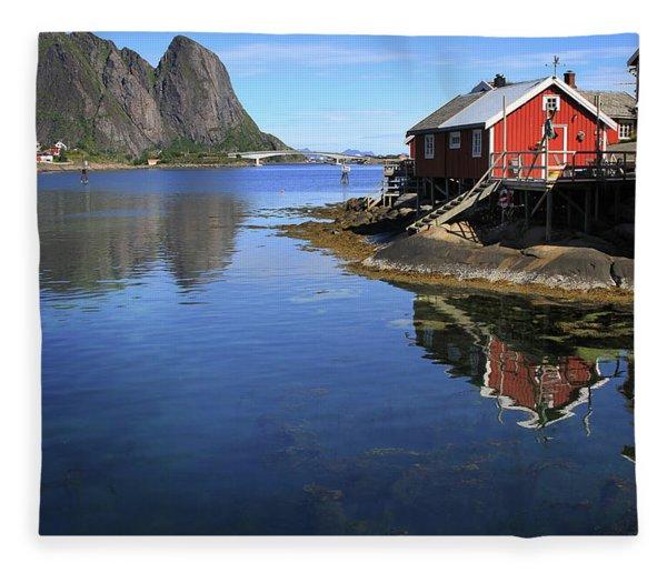 Reine, Norway Fleece Blanket