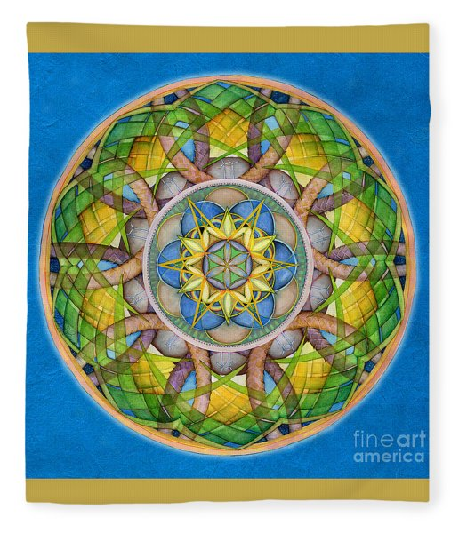 Rejuvenation Mandala Fleece Blanket