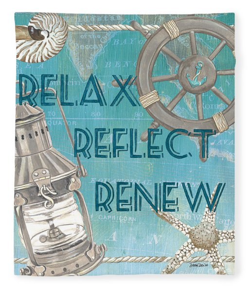 Relax Reflect Renew Fleece Blanket