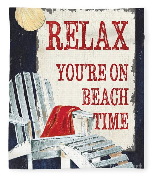 Relax You're On Beach Time Fleece Blanket