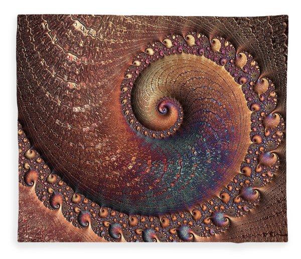Fleece Blanket featuring the digital art Relic by Susan Maxwell Schmidt
