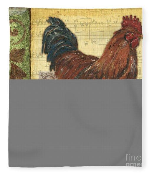 Retro Rooster 2 Fleece Blanket