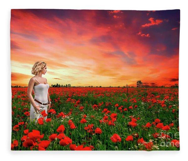 Rhapsody In Red Fleece Blanket