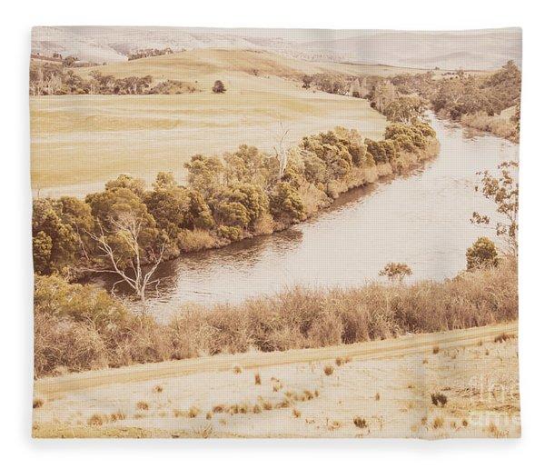 Rivers Of Pastoral Wash Fleece Blanket