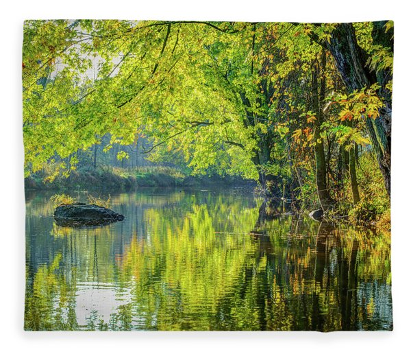 Rock At Sunrise Fleece Blanket