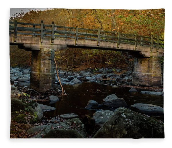 Rock Creek Park Bridge Fleece Blanket
