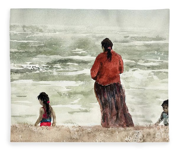 Rockport Beach Fleece Blanket