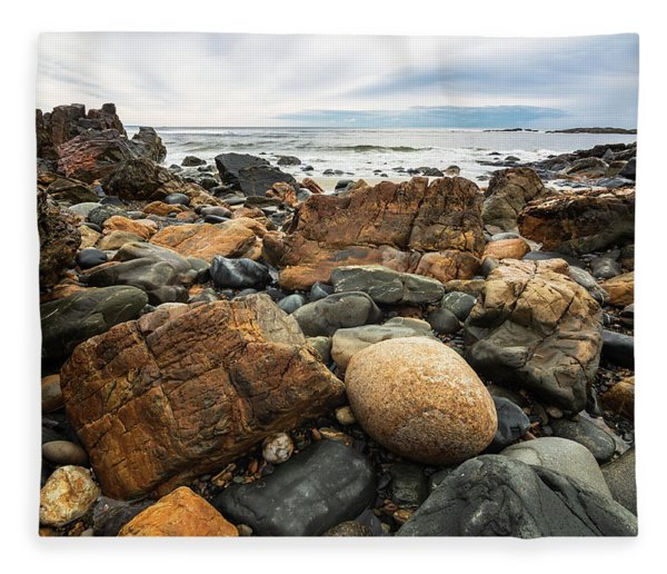 Rocky Maine Coast Fleece Blanket