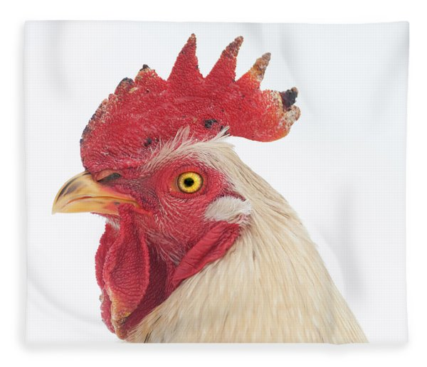 Rooster Named Spot Fleece Blanket