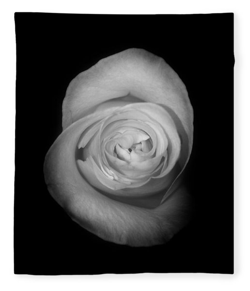 Rose From The Shadows Fleece Blanket