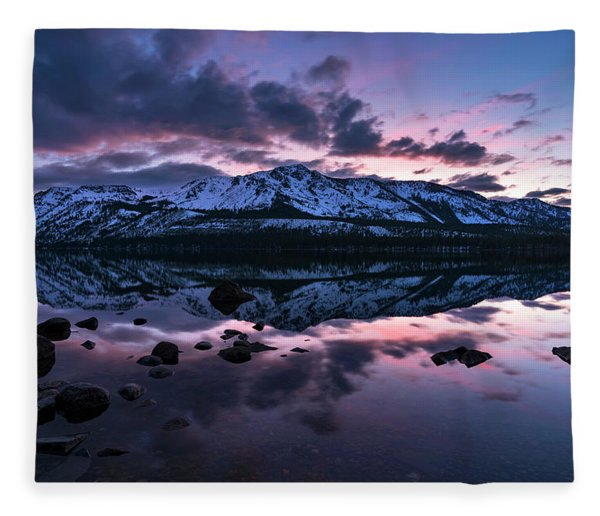 Rose Reflections By Brad Scott Fleece Blanket