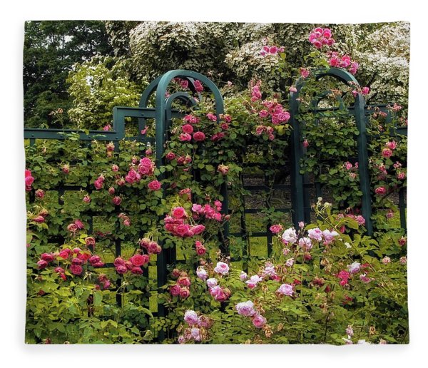 Rose Trellis Fleece Blanket