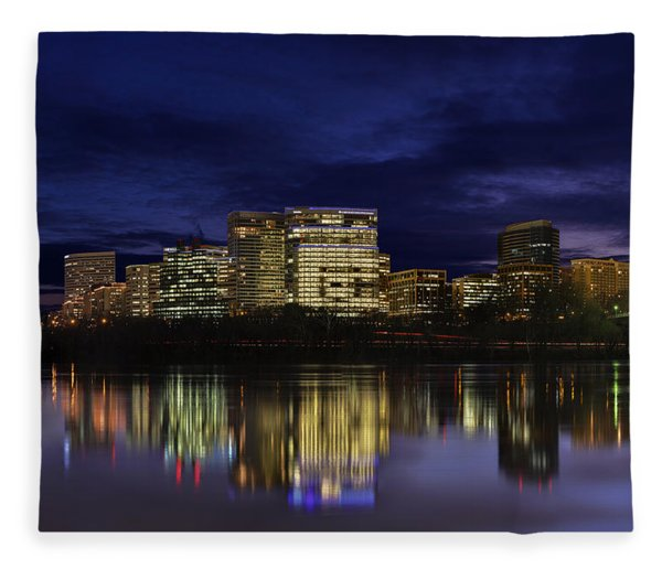 Rosslyn Skyline Fleece Blanket