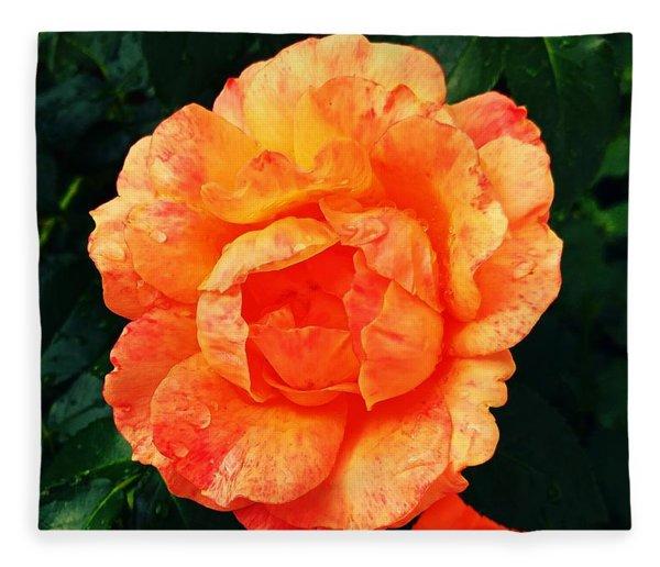 Rosy Glory Fleece Blanket