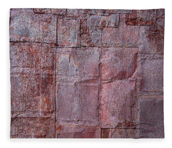 Rusty Patchwork Fleece Blanket