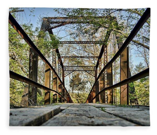 Englewood Bridge Fleece Blanket