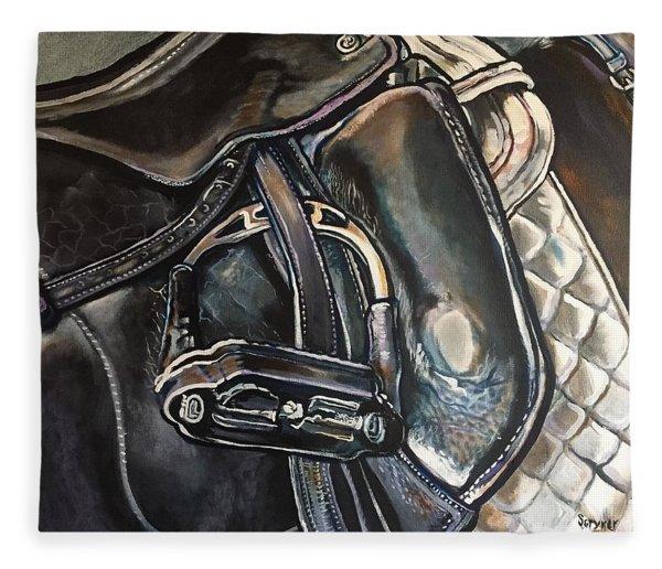 Saddle Study Fleece Blanket