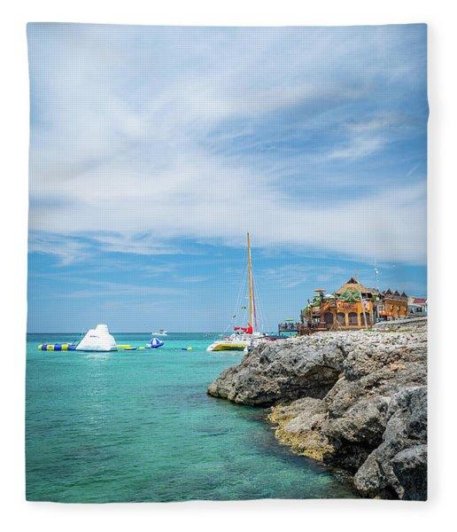 Coastline Sailing In Montego Bay Fleece Blanket